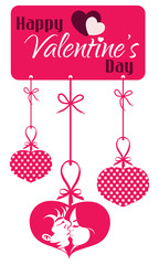 Valentine Couple Kissing Hanging Tag