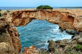Stone arch over coastline