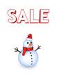 Christmas sale concept.
