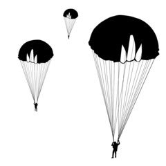 jumper, black and white silhouettes vector illustration