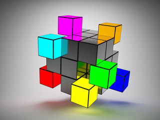 Abstract structure of cubes