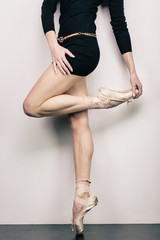 Girl in pointes