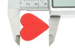 Vernier caliper measures the size of the heart and feelings. On