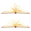 vector illustration of open book against white background