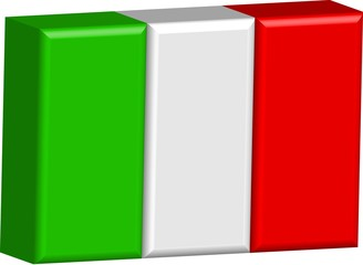 Bandiera italiana 3d 02