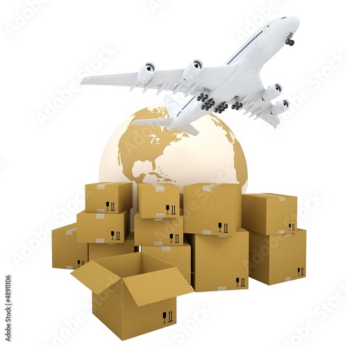 Earth, cardboard boxes and the plane