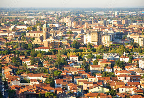 Italy, Ravenna aerial view.