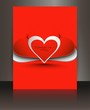 Brochure heart valentines day love red vector background