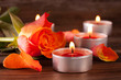 Rose mit Kerzen
