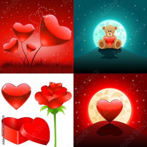 Valentinstag Set