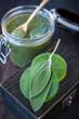Body care: body scrub, herbs, sea salt and soap