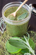 Body scrub with herbs for spa treatment