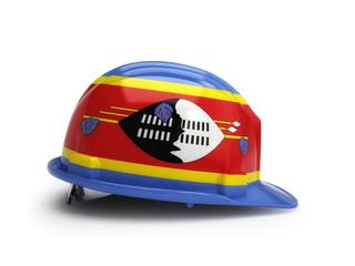 Swaziland flag on construction helmet