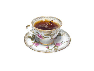 porcelain cup of res hibiscus tea