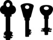 Silhouettes of keys