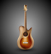 Isolated acoustic guitar