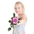kleines Mädchen mit Rose