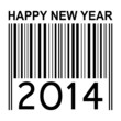 2014 new years vector illustration with barcode