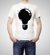 lamp on t-shirt