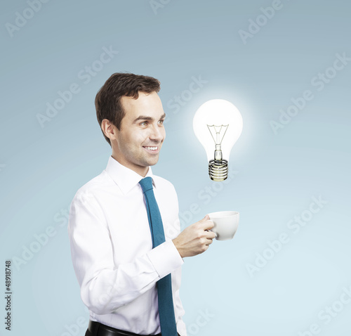 man having idea