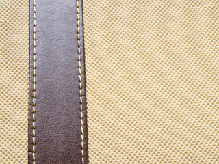 Artificial  light brown leather texture background