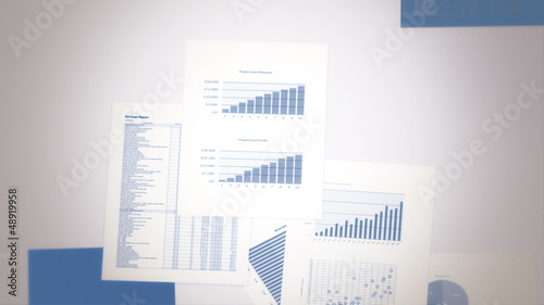 Earnings Report Concept Seamless Background Loop