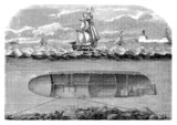 Early Submarine - Sous-Marin - U-Boot - 19th century