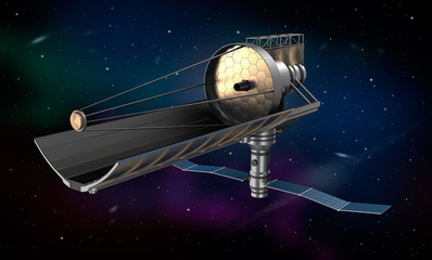 Space telescope in orbit