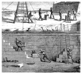 Underwater Workers - 19th century