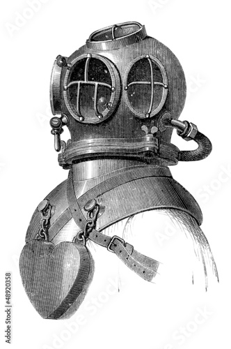 Diving Suit - Scaphandre - Taucheranzug - 19th century