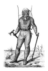 Scaphandrier - Diving Suit - Taucheranzug - 19th century
