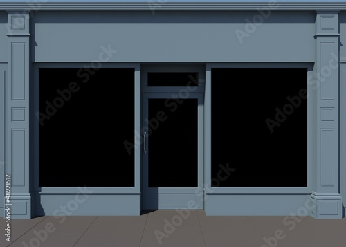 Shopfront with large windows
