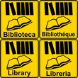CARTELLO BIBLIOTECA LIBRERIA MULTILINGUE  6
