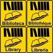 CARTELLO BIBLIOTECA LIBRERIA MULTILINGUE  6