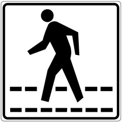 Schild weiß - Fußgängerüberweg