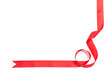 Shiny red ribbon for gift wrapping, isolated on white