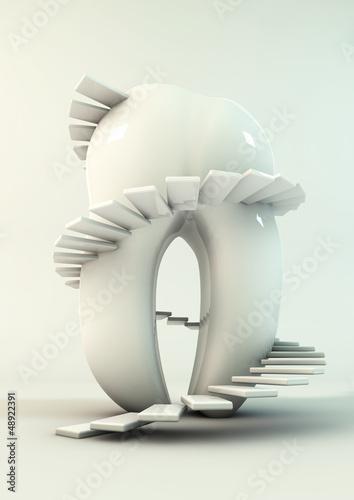 Zahn mit Treppe