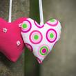 Zwei Herzen, herzliche Grüße, Paar, verliebt, gemeinsam