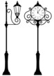 outdoor clock and lantern