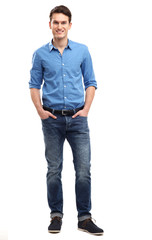 Casual young man standing