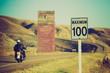 motorbike road trip - Drumheller Alberta - LOMO