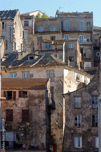 Corse, architecture du vieux Bastia
