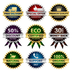 Collection of badges - for sellers. Vector eps8