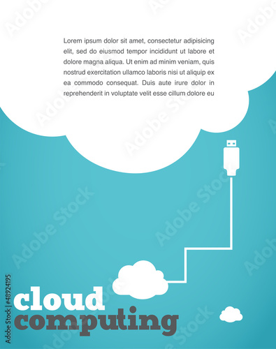 vintage style cloud computing poster