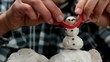 making a snowman miniature