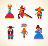 South American people - concept illustration