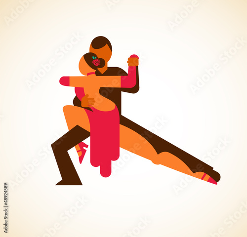 Tango dancer - vector illustration