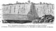 Tagebau - Geologie (Alte Lithographie)