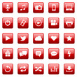 Vektor Icons / Buttons - Red (02)