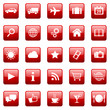 Vektor Icons / Buttons - Red (03)